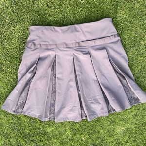 Nike dri-fit golf skirt lace detail gray small